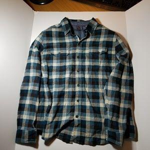 Woolrich Flannel Plaid Mens XL Blue Grey